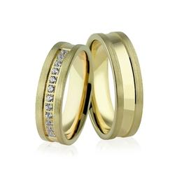 Obrączki ślubne z brylantami - au-937
