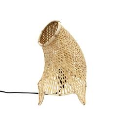 HK Living :: Bambusowa Lampa stołowa o organicznym kształcie