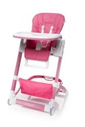 4baby icon pink skórzane krzesełko do karmienia