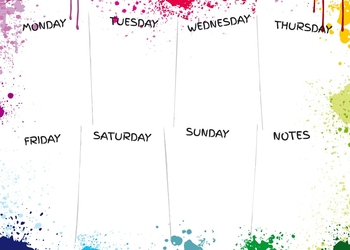 Tablica magnetyczna suchościeralna weekly planner 417