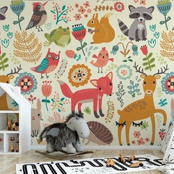 Tapeta dziecięca - lovely forest , rodzaj - próbka tapety 50x50cm