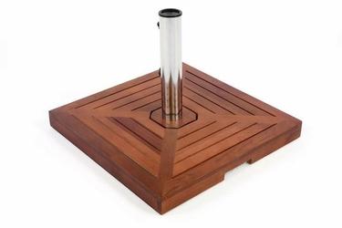 Podstawa granitowa pod parasol 26 kg drewniana oprawa stojak