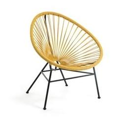 Metalowy fotel ogrodowy sumara żółty