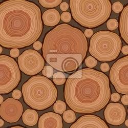 Fototapeta bezszwowe wzór cięcia drewna w wektorze