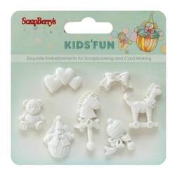 Polimerowe dekoracje z przylepcem - Kids Fun 3 - 1012