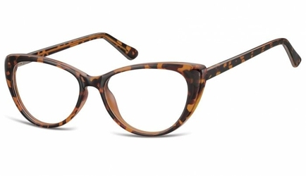 Oprawki korekcyjne kocie oczy zerówki sunoptic cp138a jasna panterka