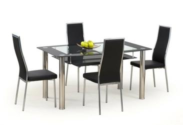 Stół do jadalni cristal czarny