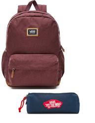 Zestaw Plecak Vans Realm Plus Backpack Catawba Grap + Piórnik Vans