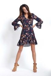 Sukienka mini boho w kwiaty