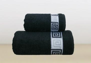 Ręcznik bawełniany dunaj frotex czarny 50 x 90