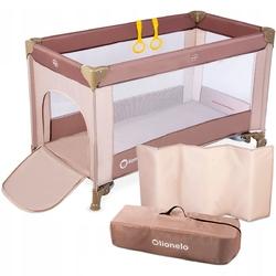 Lionelo adriaa cappuccino łóżeczko turystyczne + moskitiera + torba