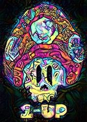 Psychoskulls, 1up, mario nintendo - plakat wymiar do wyboru: 50x70 cm