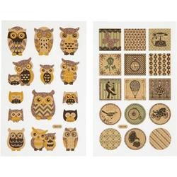 Papierowe naklejki z brokatowymi zdobieniami - 104 - 104