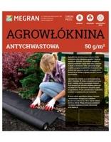 Agrowłóknina antychwastowa 50gm2 – czarna – 1,6 x 10 m