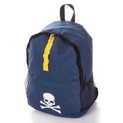 Młodzieżowy plecak szkolny m-21 z czaszką granatowy