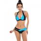 Bikini strój kąpielowy push up niebieski