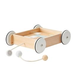 Drewniany wózek z klockami kids concept
