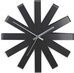 Zegar ścienny ribbon czarny