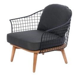 Miloo :: fotel ogrodowy toro czarny 78x75x75 cm