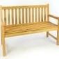 Ławka drewniana z oparciem 120 cm