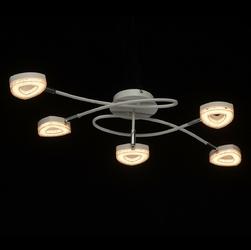 Biała lampa sufitowa - ramiona z 5 punktami led demarkt techno 704011405