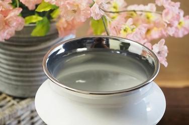 Wazon ceramiczny biały 30 cm okrągły