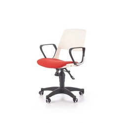 Jet fotel młodzieżowy biało-czerwony