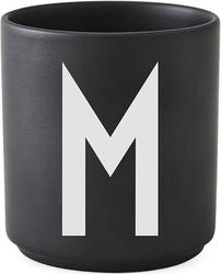 Kubek porcelanowy aj czarny litera m