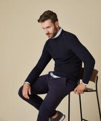 Granatowy sweter męski s