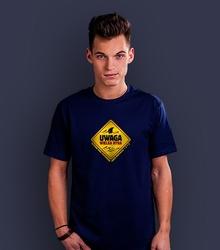 Wielka ryba t-shirt męski granatowy l