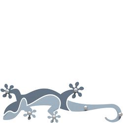 Wieszak ścienny Gecko CalleaDesign błękitny 54-13-1-41
