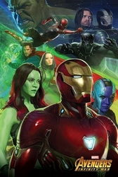 Avengers: infinity war iron man - plakat filmowy