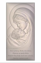 Obrazek BC6381SS2X Matka Boska z Dzieciątkiem 9 x 18 cm