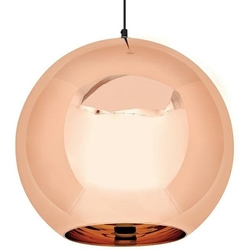 Lampa sufitowa ze szklanym kloszem bolla up rose gold 40