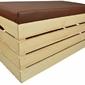 Pufa kufer skrzynia drewniana sosnowa siedzisko 80cm naturalna