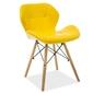 Krzesło do jadalni genko żółte