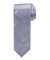 Szary satynowy jedwabny krawat profuomo