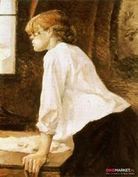 praczka - henri de toulouse-lautrec ; obraz - reprodukcja