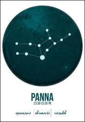 Znak zodiaku, panna - plakat wymiar do wyboru: 50x70 cm