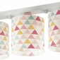 Lampa sufitowa listwa kolorowe trójkąciki 3xe27