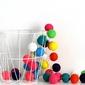 Girlanda świetlna cotton ball multikolor 35