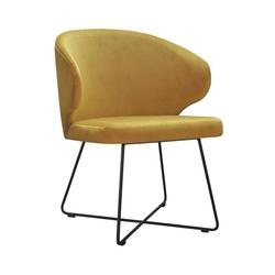 Nowoczesne krzesło tapicerowane eddy x na metalowych nogach