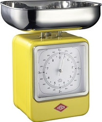 Waga kuchenna z zegarem Retro żółta