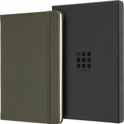 Notes moleskine okładka skórzana edycja limitowana l w linię moss green