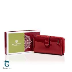 Duży portfel damski lakierowany peterson bc603 rfid
