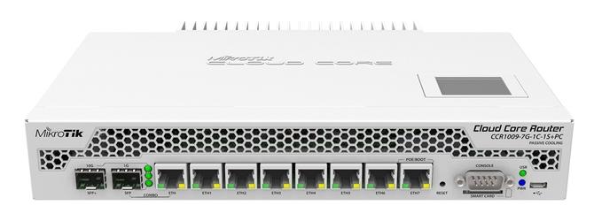 Mikrotik routerboard rtb-ccr1009-7g-1c-1s+pc - szybka dostawa lub możliwość odbioru w 39 miastach