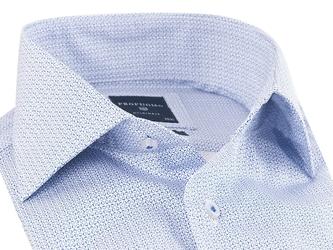 Elegancka błękitna koszula profuomo slim fit w mikrowzór 39