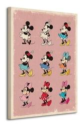 Minnie mouse evolution - obraz na płótnie