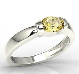 Pierścionek z białego złota z cytrynem ap-67b-cyt