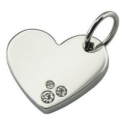 Młodzieżowadziecięca zawieszka magnetyczna 1177-1 serce z cyrkoniami swarovskiego